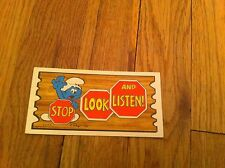 1982 Stop Look And Listen Oversize Trading Card Supercards #4 RARE Smurf Smurfs