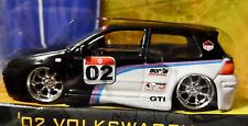 JADA 02 2002 VOLKSWAGEN VW GTI BLACK RACE STYLE DETAILED V DUBS COLLECTIBLE CAR