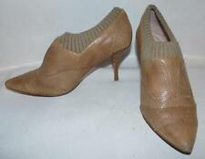 Plenty by Tracy Reese Beige Leather Cap Toe Ankle Bootie 38.5M