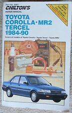 CHILTON Toyota Repair Manual Corolla-MR2-Tercel 1984-90 - BOOK