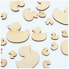 50pcs WOODEN MINI MIXED WOOD CUTE DUCKS BAMBOO CRAFT CARD DIY MAKING SCRAPBOOK