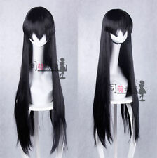Anime Akame ga KILL! Akame Black100cm Cosplay Costume Party Wig + Cap ZERO3057