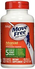 4 Pack SCHIFF - Move Free Advanced Plus 1500 mg MSM - 120 Tablets Each
