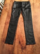 "Bel Air French Black Soft Fine Lambs Leather Hot Pants Trousers 32"" Waist."