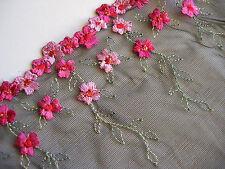 Breite Jugendstil-Tüll-Spitze-Borde für Couturier,Abendkleid oder die Hochzeit