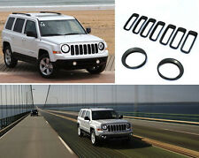 For 2011-16 Jeep Patriot Black Car Front Grille Trim + HeadLight Lamp Cover Trim