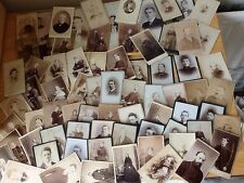 CABINET CARDS Job Lot of 73 Photos Various Photographers And Sizes