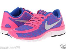 NEW NIKE SNEAKERS WOMEN'S SIZE 9.5 FREE 5.0 V4 HYPER PINK COLBOLT RUNNING SHOES