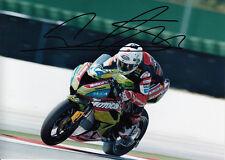 David Salom main signé Kawasaki 7x5 photo wsbk 8.