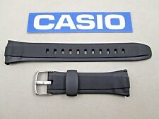 Genuine Casio WVM120E WVM120J WVQ400E WVQ400J black resin watch band strap
