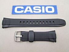 Genuine Casio WVA470BE WVA470BJ WVA470E WVA470J black resin watch band strap