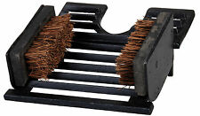 Rustic Cast Iron Boot Welly BootJack Cleaner Brush Scrapper Equestrian