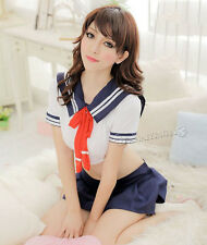 Japanese School Girl Students Sailor Lingerie Sexy Uniform Cosplay  Anime Costum