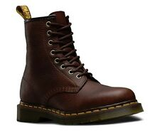 NEW NIB DR. MARTINS 1460 GRIZZLY 8 EYE LEATHER BOOTS BARK SIZE 9