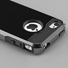 Hybrid Shockproof Hard&Soft Rugged Rubber Cover Case For Apple iPhone 5 5s 5g