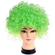 Curly Afro Fancy Dress Wig Disco Clown Mens/Ladies Costume Accessory 13 Colours