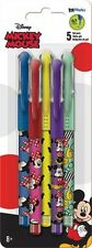 MICKEY MOUSE - COLORED GEL PENS 5 PACK - BRAND NEW - DISNEY 1766