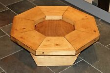 STUNNING RUSTIC  COFFEE TABLE 750MM DIAMETRE .  ANTIQUE WAX FINISH