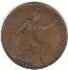 1921 RE GEORGIVS V One Penny 1d-Coin Hunt
