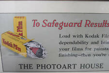 Kodak Film Poster Matted And Framed Advertising camera c.1920 autographic era