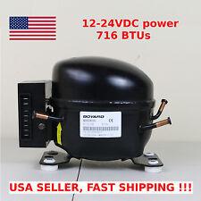 12V 24V DC Refrigeration Compressor Fridge Freezer Marine Solar QDZH65G R134a