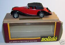 AGE D'OR SOLIDO OLD DELAHAYE 135M 1939 FIGONI FALASCHI ROUGE 1/43 IN BOX b