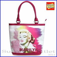 Marilyn Monroe Women Shoulder Hand Tote  Bag White New