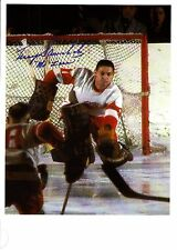 """Terry Sawchuk """"Mr. Zero"""", All-Time Great Goalie """"Making the Save""""-very RARE!!!"""