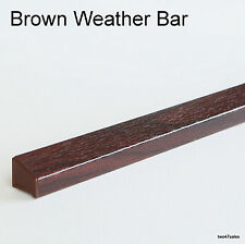 Brown Weather Pioggia DEFLECTOR Drip BAR UPVC porta / finestra in legno Guard weatherbar PVC