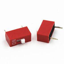 10pcs Rouge DIP Interrupteur 2.54mm 1-Bit 1-Positions Ways DIP Switch