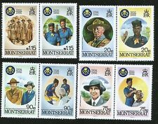 GIRL GUIDES 50TH ANN. LADY BADEN POWELL & LORD BADEN POWELL MONTSERRAT MINT STAM
