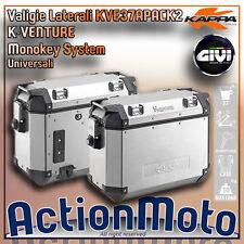Coppia valigie laterali KAPPA KVE37A PACK2 K-VENTURE MONOKEY 37 Litri Alluminio
