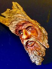 Hand carved Mississippi Driftwood Carving Of A Wood Sprite Old Man