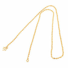 Fashion Jewellry 9K Yellow Gold Filled Double Water Wave Chain Womens Necklace