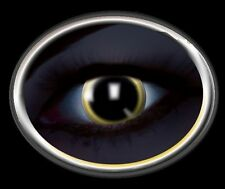 ZOE UV glow 83019 lentille de couleur lens yellow black noir contact halloween
