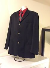 ISTANTE BY GIANNI VERSACE, BLACK TUX 3 BUTTON 80%WOOL/20%POLY, SPORT COAT BLAZER