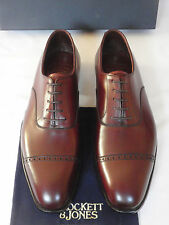 NEW Crockett & Jones BELGRAVE Handgrade Brown Leather Shoes UK 7.5 E RRP £500