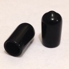 8mm End Caps, End Covers For Tubes, Rods & Threads, pack of 10, Rubber Plastic