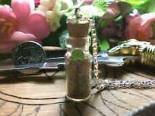 Witch Money Spell Bottle Talisman Free Mini Crystal Point