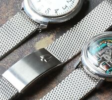 Steel mesh watch band 17.3mm for vintage Bulova Accutron 214 Spaceview 1960s/70s
