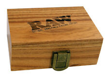 RAW SMOKERS BOX WOODEN GIFT BOX FROM SHAPELY SOLID WOOD WITH HIDING-PLACE