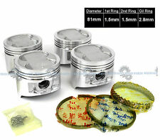 88-91 TOYOTA Corolla GTS MR2 1.6L 4AGEC 4AGELC PISTONS KIT w/ PIN Clips NEW