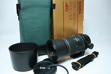 Sigma APO Aspherical 135-400mm f/4.5-5.6 lens Boxed for Minolta/Sony Japan Mint
