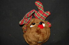 RED NOSE BEAR RUDOLPH REINDEER DOOR KNOB DECORATION NEW DESIGN CHRISTMAS HOLIDAY