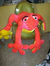"45"" HUGE Hot Pink/ Yellow/Red Spotted Plush Stuffed FROG;PILLOW Doll; Gift Idea!"