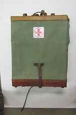 Vintage Swiss Military Medical Medic Pack Rucksack Leather Straps 1964 Dated