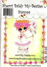 NEW My-Besties Clear cling Rubber Stamp BUTTERFLY BALLOONS GIRL  free usa ship