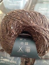5 x 100g debbie bliss fine donegal shade 22 chocolat
