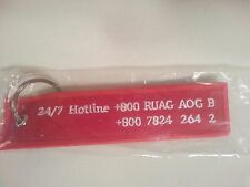 RUAG Aviation On the Ground Support Flight Tag Keychain / New