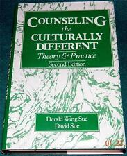 DERALD W. SUE  & DAVID SUE, Counseling the Culturally Different, 2nd Ed. HB/DJ